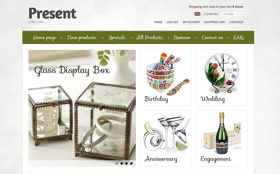 ZenCart Vorlage für Geschenkeshop  New Screenshots BIG