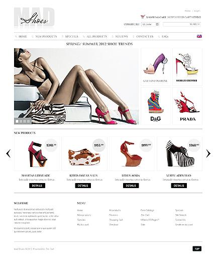 ZenCart Template 39311 Main Page Screenshot