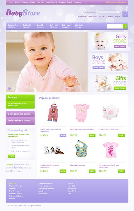5d29619c6 Baby Store Magento Theme | Website Templates