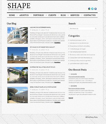Template 39333 ( Blog Page ) ADOBE Photoshop Screenshot