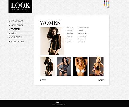 Template 39340 ( Women Page ) ADOBE Photoshop Screenshot