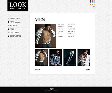 Template 39340 ( Men Page ) ADOBE Photoshop Screenshot