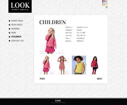 Template 39340 ( Children Page ) ADOBE Photoshop Screenshot