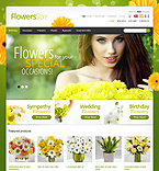 Flowers PrestaShop Template 39356
