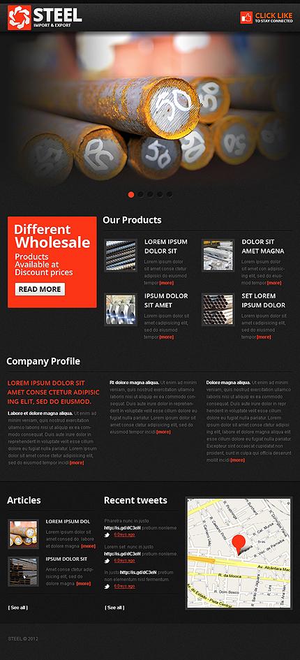 ADOBE Photoshop Template 39357 Home Page Screenshot