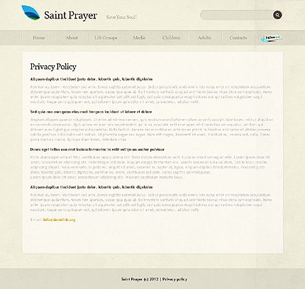 Template 39364 ( Privacy Policy Page ) ADOBE Photoshop Screenshot