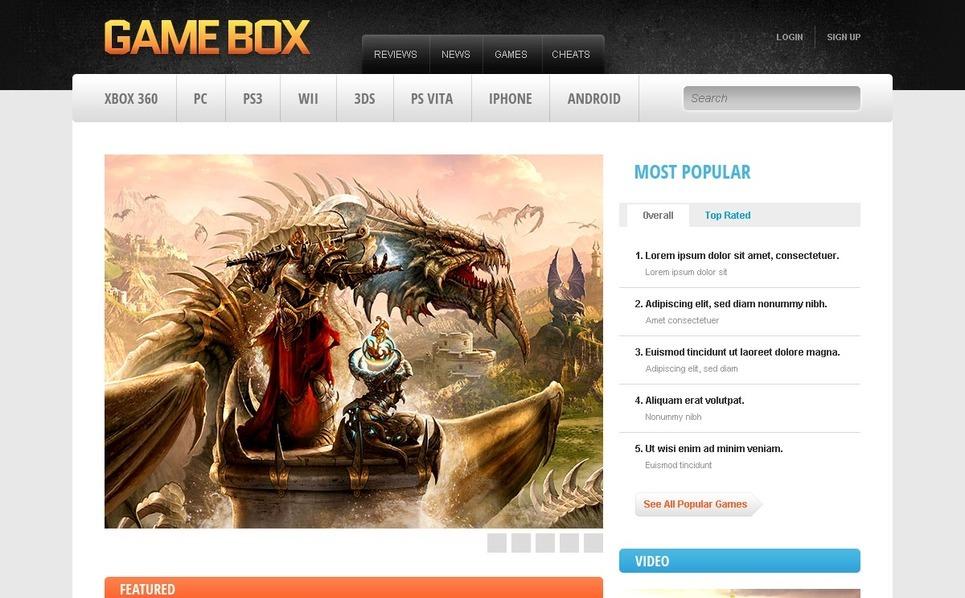 Szablon Drupal #39369 na temat: portal gier New Screenshots BIG