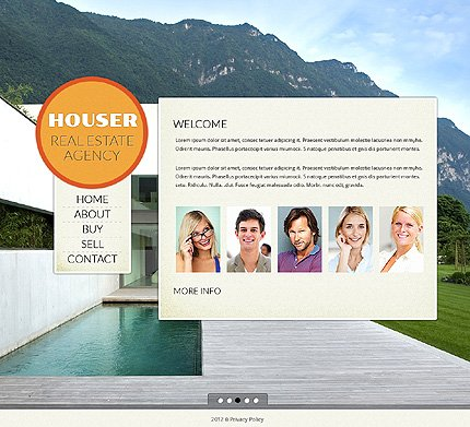 Template 39383 ( Home Page ) ADOBE Photoshop Screenshot