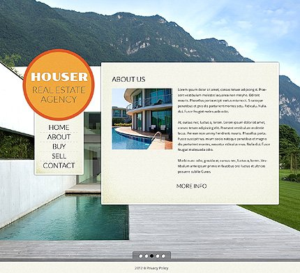 Template 39383 ( About Page ) ADOBE Photoshop Screenshot