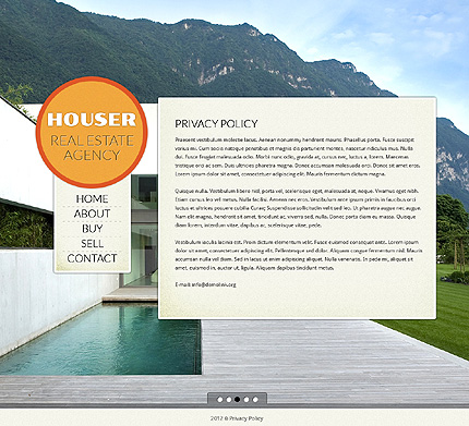 Template 39383 ( Privacy Policy Page ) ADOBE Photoshop Screenshot