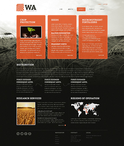 Template 39385 ( Services Page ) ADOBE Photoshop Screenshot