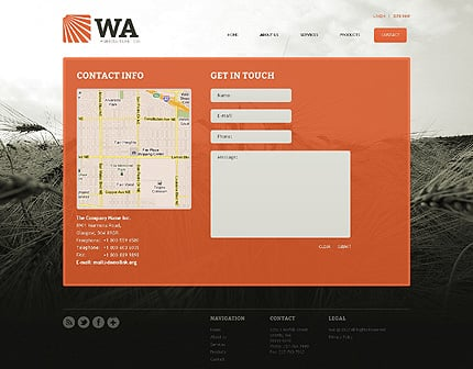 Template 39385 ( Contact Page ) ADOBE Photoshop Screenshot