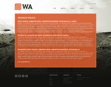Template 39385 ( Privacy Policy Page ) ADOBE Photoshop Screenshot