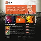 Agriculture Website  Template 39385