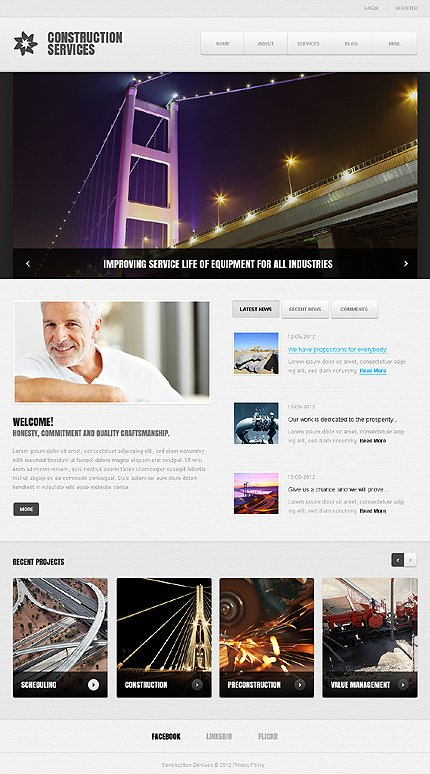 Joomla Theme/Template 39389 Main Page Screenshot