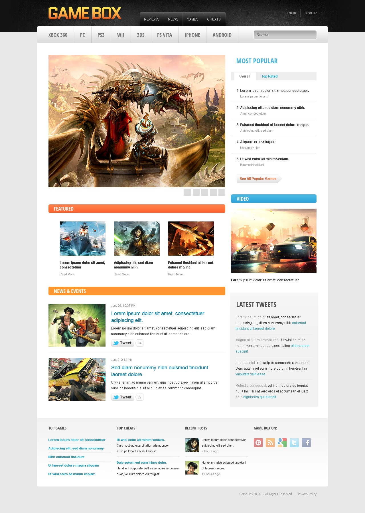 Game Portal Drupal Template - screenshot