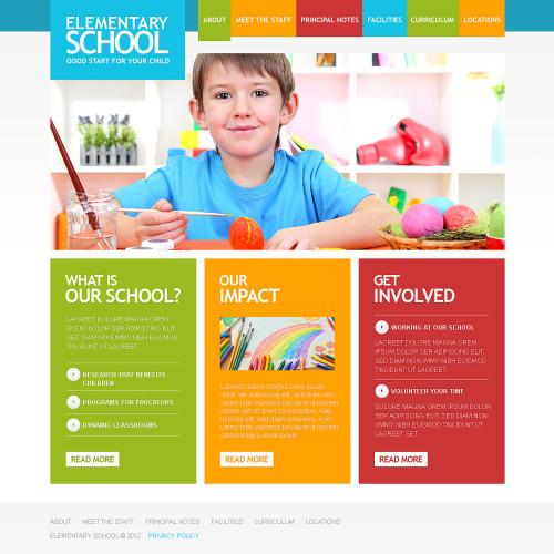 Elementary School - Responsive Website Template
