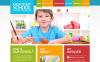 Responsive Website Vorlage für Grundschule  Desktop Layout