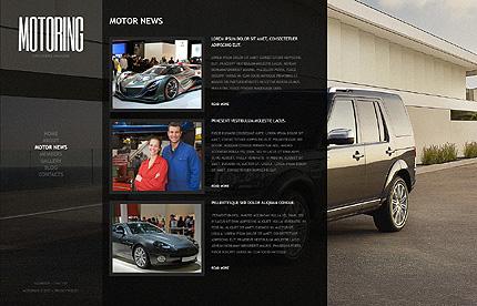 Template 39427 ( Motor News Page ) ADOBE Photoshop Screenshot