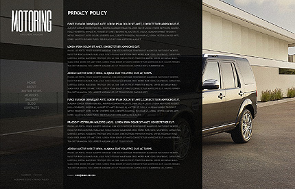 Template 39427 ( Privacy Policy Page ) ADOBE Photoshop Screenshot