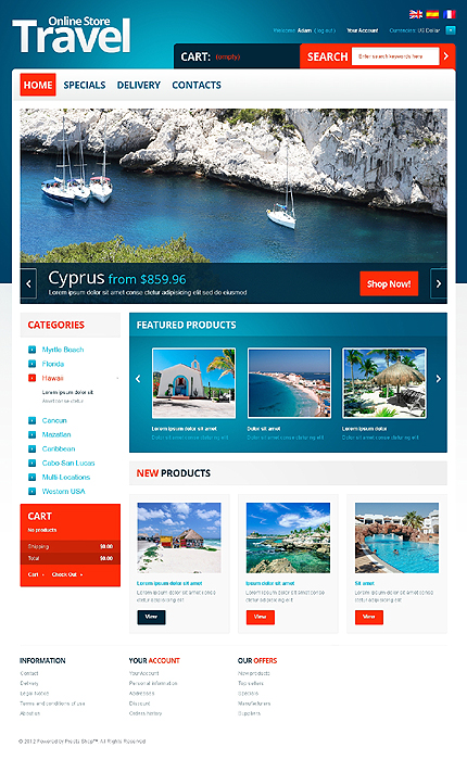 ADOBE Photoshop Template 39440 Home Page Screenshot
