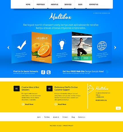 Joomla Theme/Template 39449 Main Page Screenshot