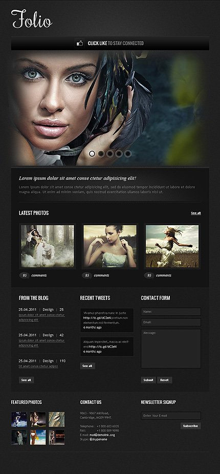 ADOBE Photoshop Template 39452 Home Page Screenshot