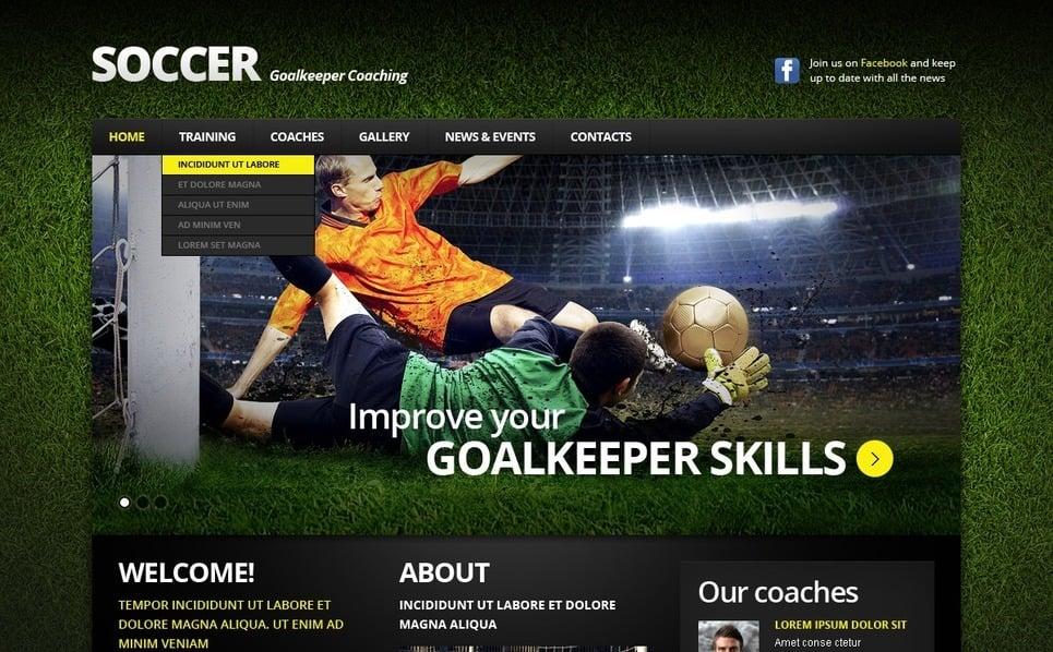 Responsive Website template over Voetbal  New Screenshots BIG