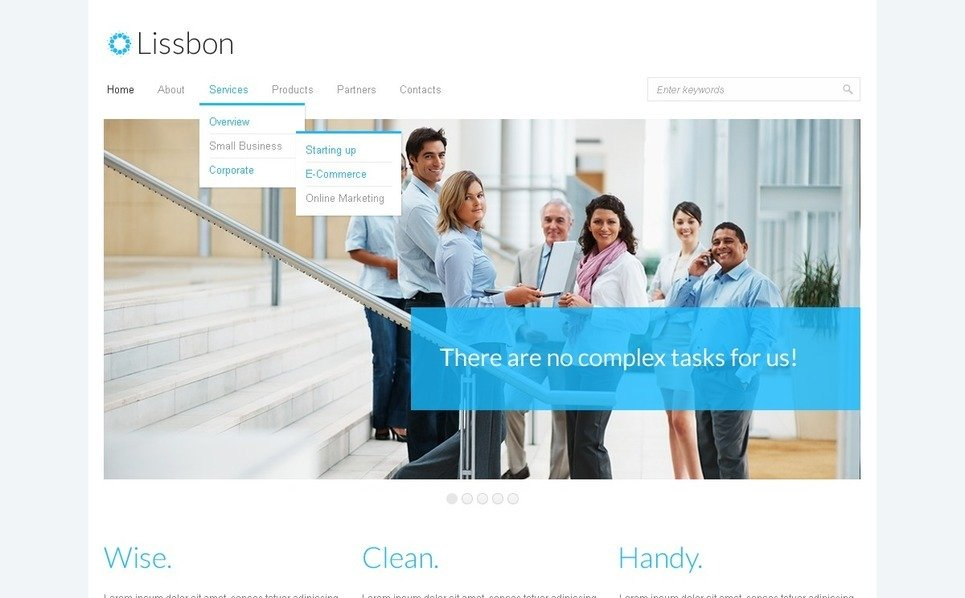Адаптивный HTML шаблон №39455 на тему Бизнес и услуги New Screenshots BIG