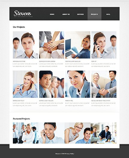 Template 39460 ( Projects Page ) ADOBE Photoshop Screenshot