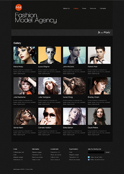 Template 39465 ( Gallery Page ) ADOBE Photoshop Screenshot