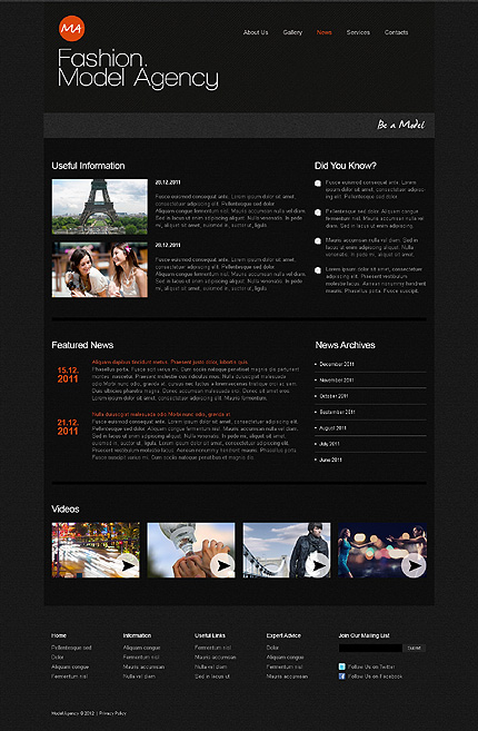 Template 39465 ( News Page ) ADOBE Photoshop Screenshot