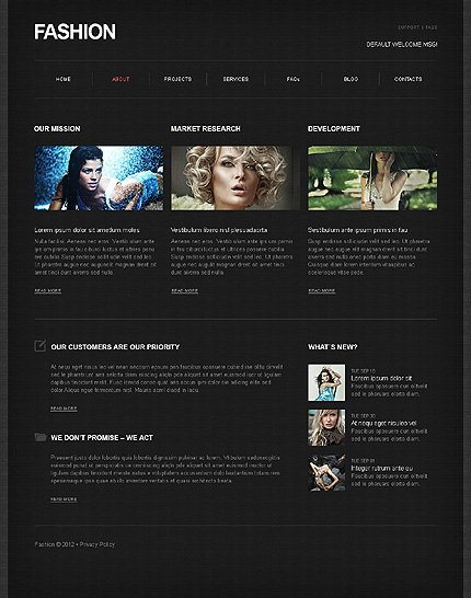 Template 39467 ( About Page ) ADOBE Photoshop Screenshot