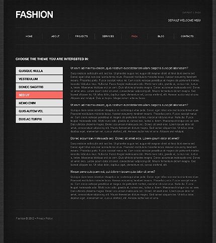 Template 39467 ( FAQs Page ) ADOBE Photoshop Screenshot