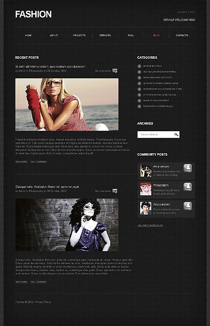 Template 39467 ( Blog Page ) ADOBE Photoshop Screenshot