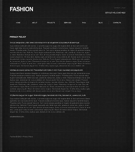 Template 39467 ( Privacy Policy Page ) ADOBE Photoshop Screenshot