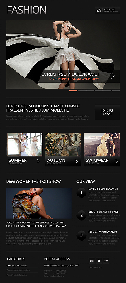ADOBE Photoshop Template 39469 Home Page Screenshot
