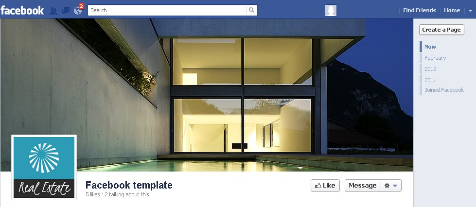 Real Estate Facebook Page Template from s.tmimgcdn.com