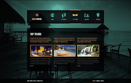 Template 39493 ( VIP Tours Page ) ADOBE Photoshop Screenshot