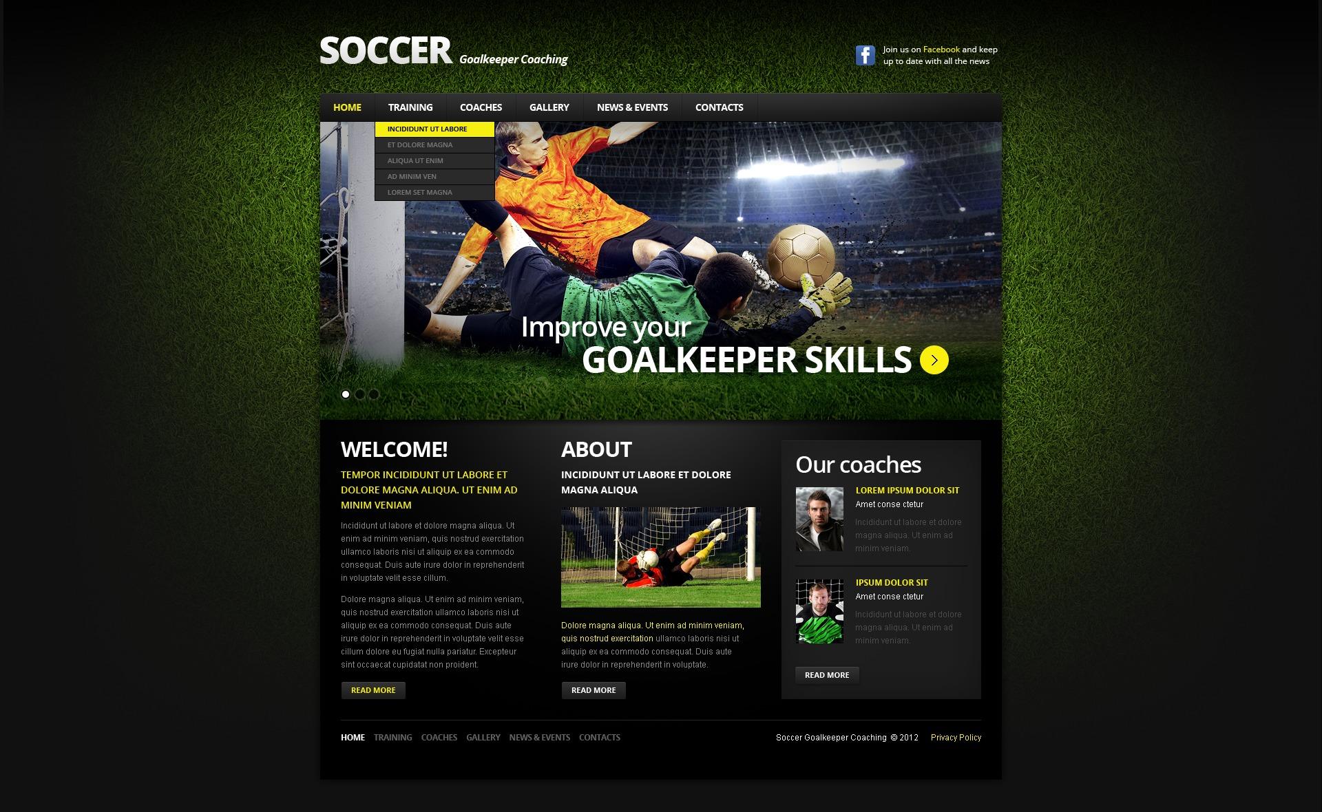 Website Vorlage #39454 für Fussball