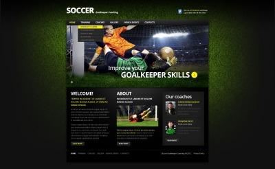 Soccer Responsive Template Siti Web