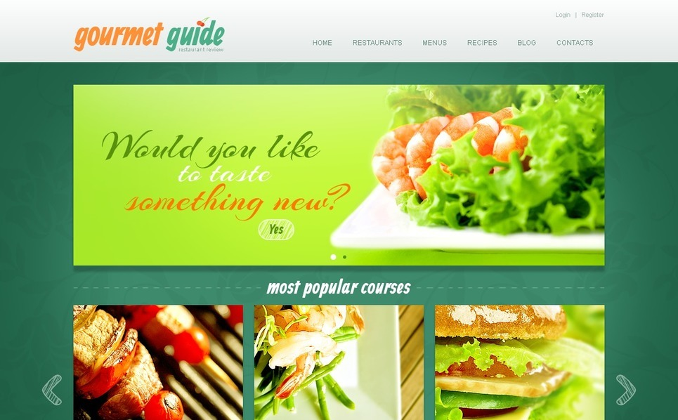 餐馆评论的网站Joomla模板 New Screenshots BIG