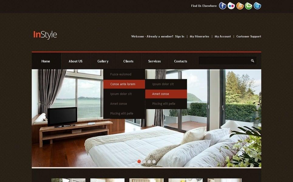 HTML шаблон №39506 на тему дизайн интерьеров New Screenshots BIG