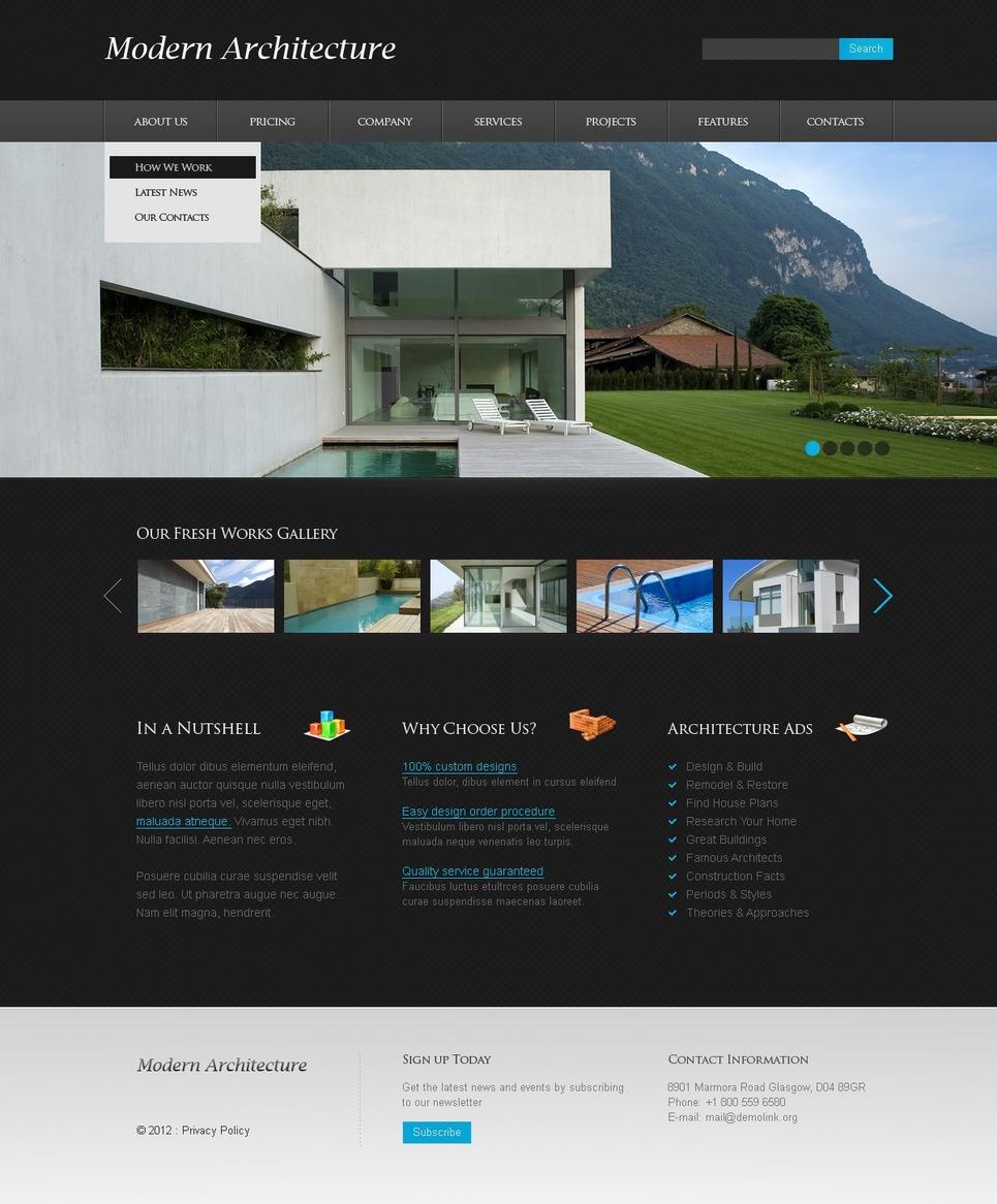 Template siti web per un sito di architettura for Siti web di costruzione domestica