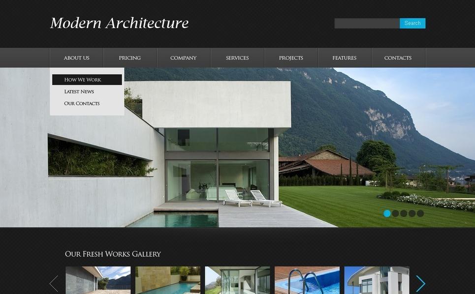 Template Siti Web  #39508 per Un Sito di Architettura New Screenshots BIG