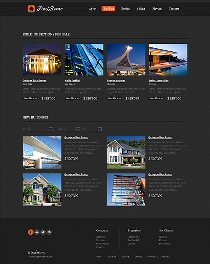 Template 39509 ( Building Page ) ADOBE Photoshop Screenshot