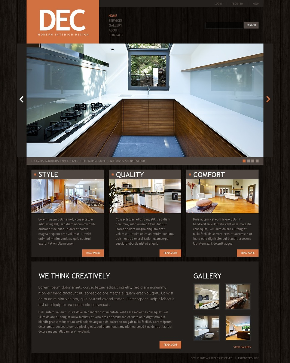 Interior Design Website Template 39515 By Wt Website Templates
