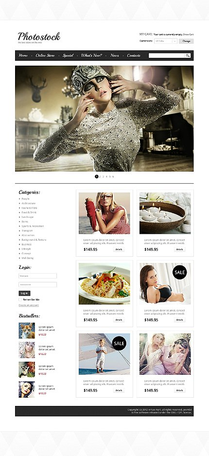 ADOBE Photoshop Template 39525 Home Page Screenshot