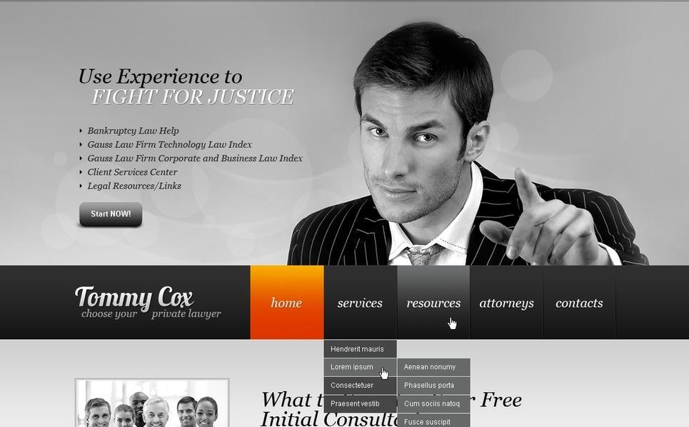 Ügyvédek Flash CMS sablon New Screenshots BIG