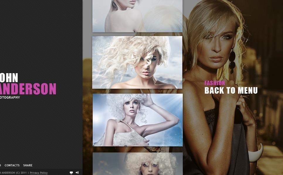 Szablon Flash CMS #39537 na temat: portfolio fotograficzne New Screenshots BIG